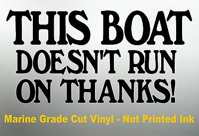 Marine Fishing Boat Tackle Box Stickers THIS BOAT For Hull or Cabin 200mm