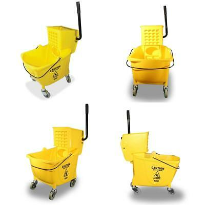 Genuine Joe 12-32 Oz Mops Yellow Side Press Wringer Mop Bucket 26-35qt.Capacity