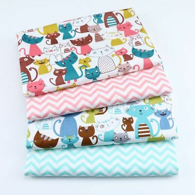 One PCS Cotton Fabric Pre-Cut Cotton Fabric for Sewing Cartoon Cat