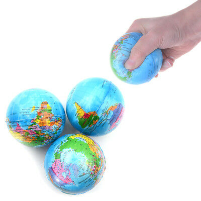 7.6CM Stress Relief World Map Foam Ball TOY Palm Ball Planet Earth Ball TOY WH