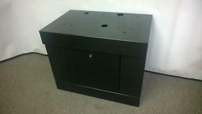 Black Square Top Slot Machine Stand - Base With Locks & Keys (Single Door)
