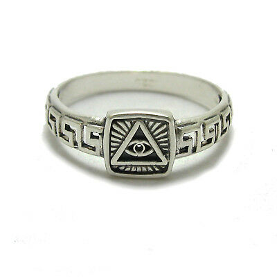 Genuine sterling silver ring hallmarked solid 925 Eye of the providence
