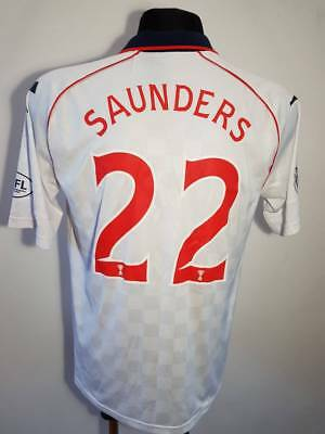 Ross County 2012 2013 Away football shirt SCOTLAND MATCH WORN SAUNDERS 22 WHITE