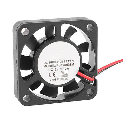 40mm x 10mm 0.12A 2Pin 5V DC Brushless Sleeve Bearing Cooling Fan SY AU