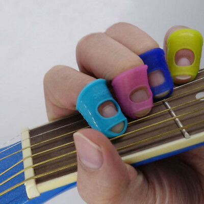 Sale Guitar Thumb Bass Finger Picks Protector Plectrum Bands Silicone New hr