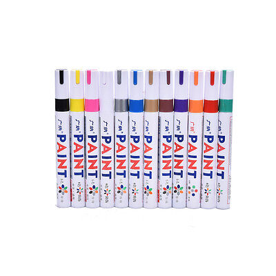 Permanent universal oil paint marker pen for rubber metal tyres bin number JS