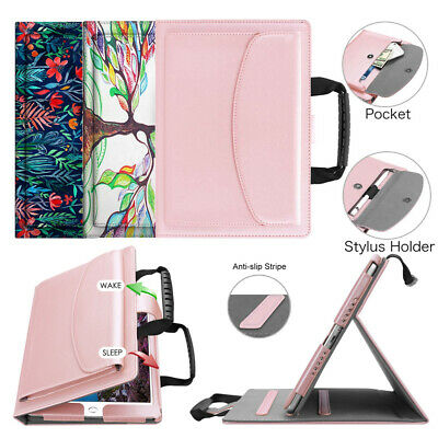 For iPad 6th Gen 9.7'' 2018 Tablet Handbag Case Multi-Angle Cover Handle Stand