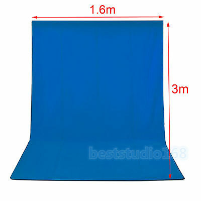 Photography Photo Studio 1.6x3m Backdrop Blue Chroma Key Screen Background