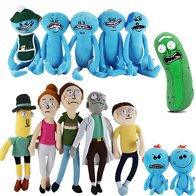 Rick And Morty Plush Soft Toy Meeseeks Mr Stuffed Doll Face Happy Sad Dolls Gift