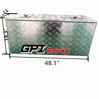 "48.1""x17""x19.3"" Aluminum Truck Bed Camper Storage Tool Box Trailer Thickness2.5"""