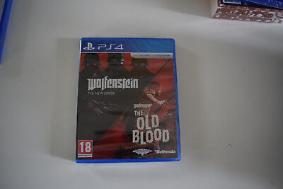 wolfenstein double pack the new order old blood ps4 playstation 4 ps 4 neuf