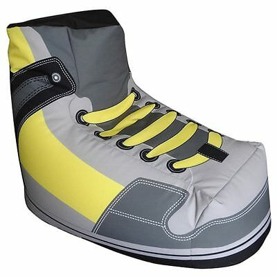 Novelty Sneaker Shoe Beanbag Bean Bag COVER Large 200litre Grey Yellow