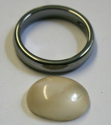 Natural Loose Moonstone 12X15Mm Oval 5Mm Tall Cabochon 7Ct Mu26