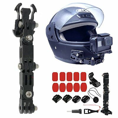 Motorcycle Full Face Helmet Chin Mount Holder For GoPro Hero 6/5/4 XiaoYi Camera