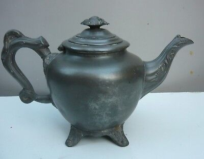 Antique pewter 'Henry & Co' teapot in very good condition. Interesting hallmarks