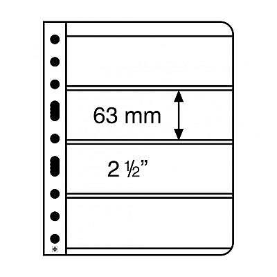 Vario Black 4S Stamp Sheets with 4 pockets per side 63x195mm - pk 5