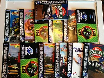 Lot 1 Sega Saturn Replacement Instruction Manuals Job Lot Bundle Sega Rally