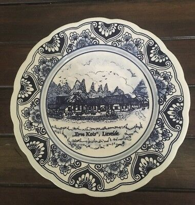 Delfts Blauw Holland Hand Painted WalI Hanging Collectors Plate 414 VGC