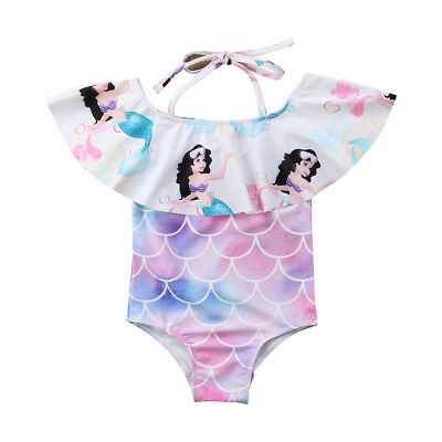 Infant Kid Baby Girl Swimwear Swimsuit Bathing Suit Swimming Jumpsuit Clothes AU
