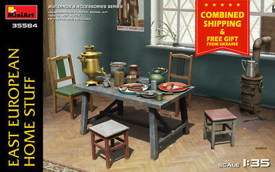 Miniart 35584 East European Home Stuff 1/35 Scale Model Kit For Building New