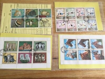 Sharjah & Dependencies Postage Stamps - Horses, Football, Fish, Cats