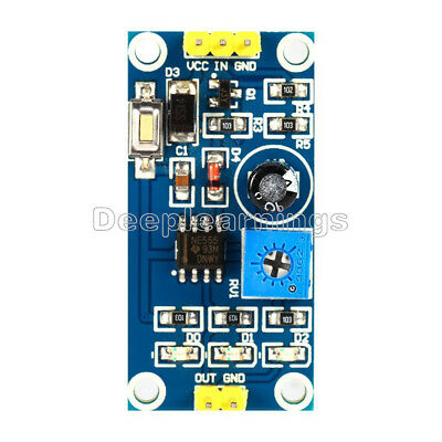 DC 5-12V Delay Relay Shield NE555 Timer Switch Module 0-150 Second Adjustable NF