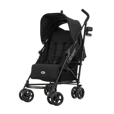 Obaby Zeal Stroller Umbrella Folding Buggy Black From Birth With Raincover NEW