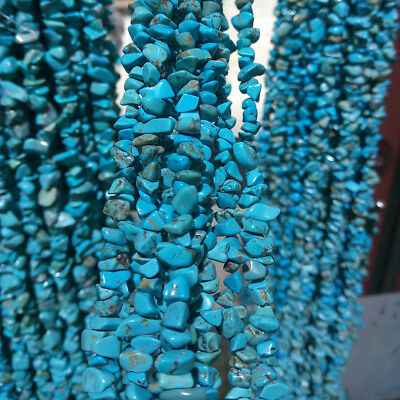 35'' Natural Gemstone 5-8mm Freeform Turquoise Chip Beads For Jewelry Making