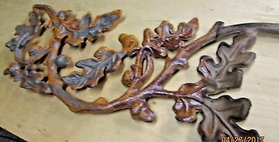 Salvage Wrought Oak Acorn Scroll Cast Iron Casting Architectural