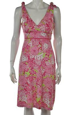 af7f7fb1f323 Lilly Pulitzer Dress Size S Pink Printed Sheath Sleeveless Knee Length  Casual