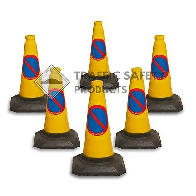 "Pack of 6 - 50cm ""No Waiting/ No Parking"" - Traffic Cones - BRAND NEW"