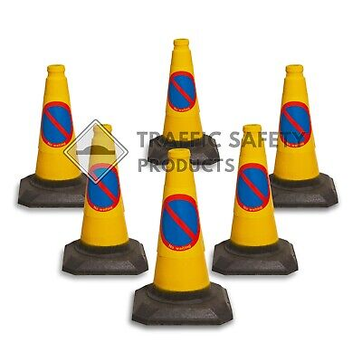 Pack of 6 - No Waiting / No Parking U.K Traffic Cones (450mm)