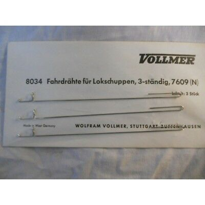 ** Vollmer 8034 3 x Catenary Wires for Vollmer Three Track Engine Shed 7609 N Sc