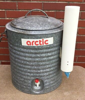 Beautiful VINTAGE ARCTIC BOY Huge 10 Gallon Galvanized Water Cooler w/Spigot  LB94