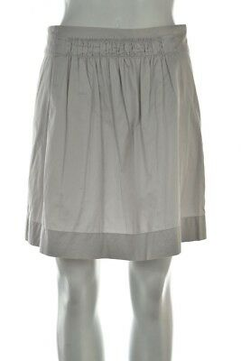 0a81ef369cb9 J Crew Womens Skirt Size 0 Gray Solid A-Line Above Knee Cotton Casual Career
