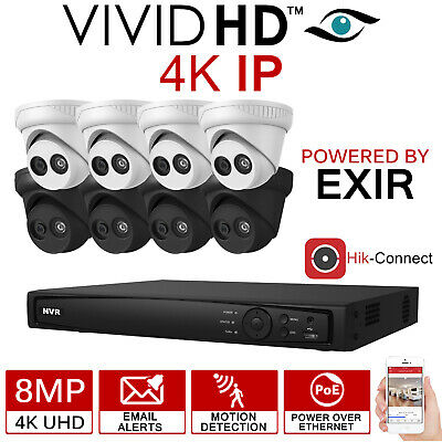 Hikvision 8Mp Cctv System Ip Poe 8Ch Channel 4K Uhd Network Nvr Camera Home Kit