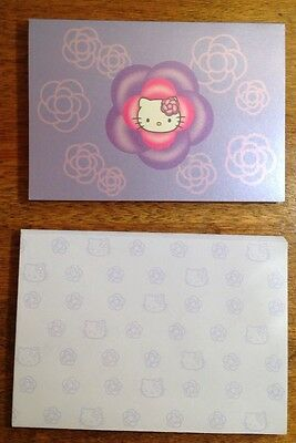 2001 Sanrio Hello Kitty  7 Note Cards And 8 Envelopes, Purple