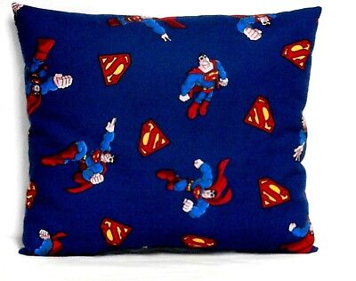Superman Toddler Pillow on Navy 100%Cotton SM4-21 New Handmade