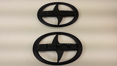 1 - Set of BRAND NEW SCION FR-S Front and Rear Black Badge Emblem FRS F/R PAIR
