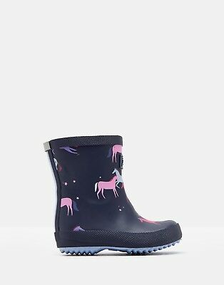 e1f82e83800 GIRLS JOULES INFANT Toddler Unicorn Welly Snow Boots Navy 4 Welly ...