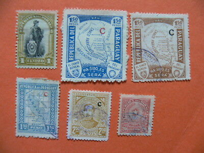 6 Paraguay Stamps. All Different. Mixed Ages & Topics.
