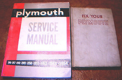 1946 47 48 49 50 1951 1952 1953 1954 plymouth service manuals all models  p15 p24