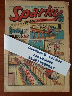 Sparky Comic Collectors item N.o 271 March 28th 1970 *FREEPOST*