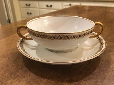 Antique Syracuse O.P.CO China - Restaurantware China Soup Cup and Saucer 1910 US