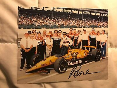 Helio Castroneves Signed 8 X 10 Indianapolis Indy 500 Winner 2002 Autographed