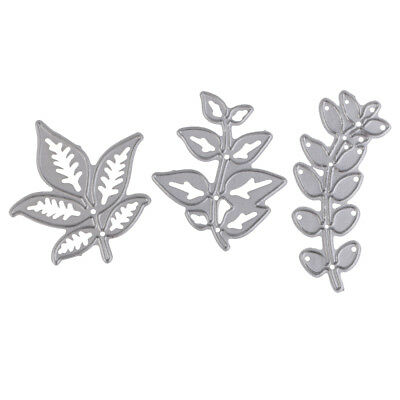 3pcs Leaves Metal Cutting Dies Stencil for Scrapbook Album Embossing Craft