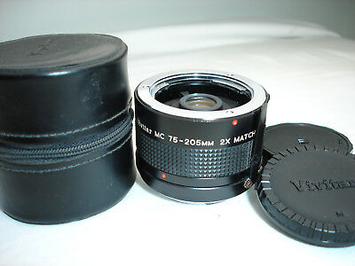 VIVITAR MC 70-150mm 2x Multiplier / Converter lens , Minolta MD camera mount