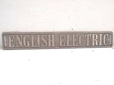 Cast Metal ENGLISH ELECTRIC British Railway Sign Vintage INDUSTRIAL THEMED