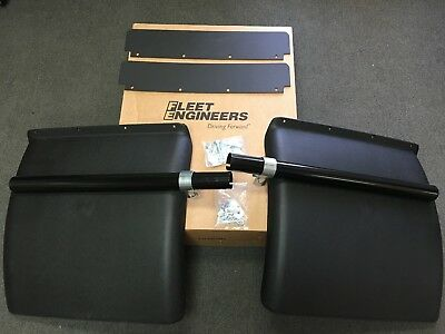 Commercial Semi Truck Black Poly Quarter Fender Set. Fleet Engineers # 1900KIT