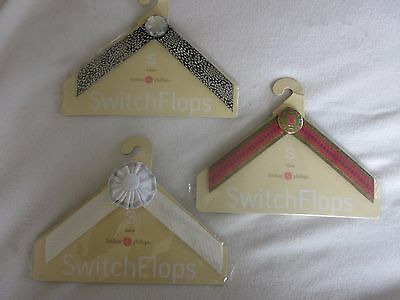 Lot of 3 NEW LINDSAY PHILLIPS Switch Flops Straps Size SMALL NIP Nina Addie Anna